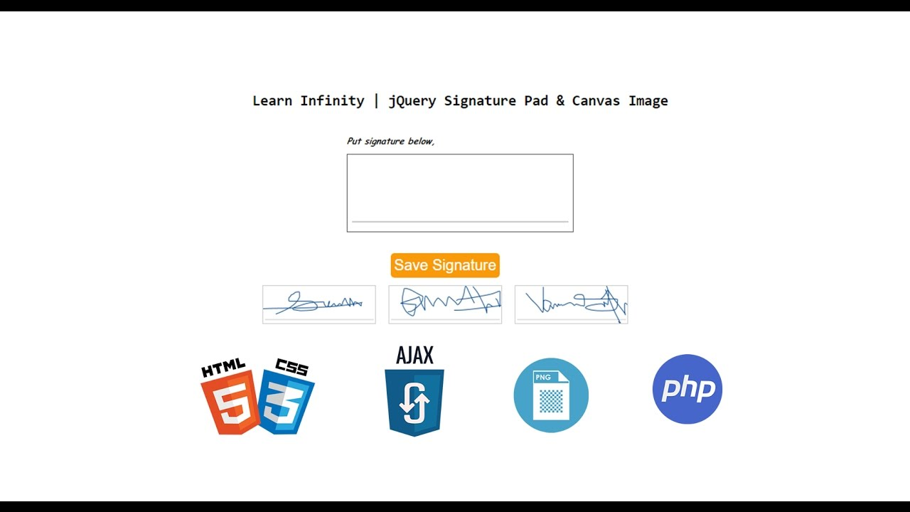 Digital E-Signature pad with saving it as image using