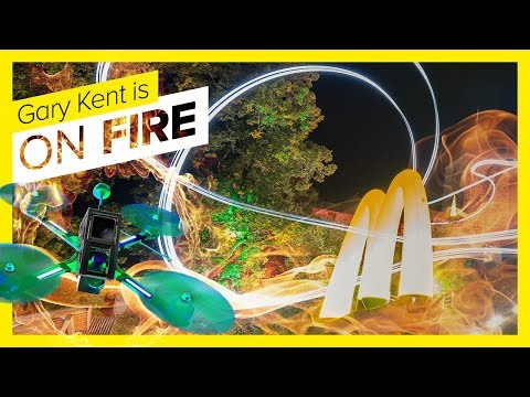 RACING DRONE CACHES FIRE!  Pilot Gary Kent  DRONE CHAMPIONS LEAGUE 2018 #DCL18