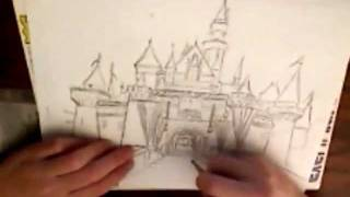 Disneyland Castle Speed Drawing
