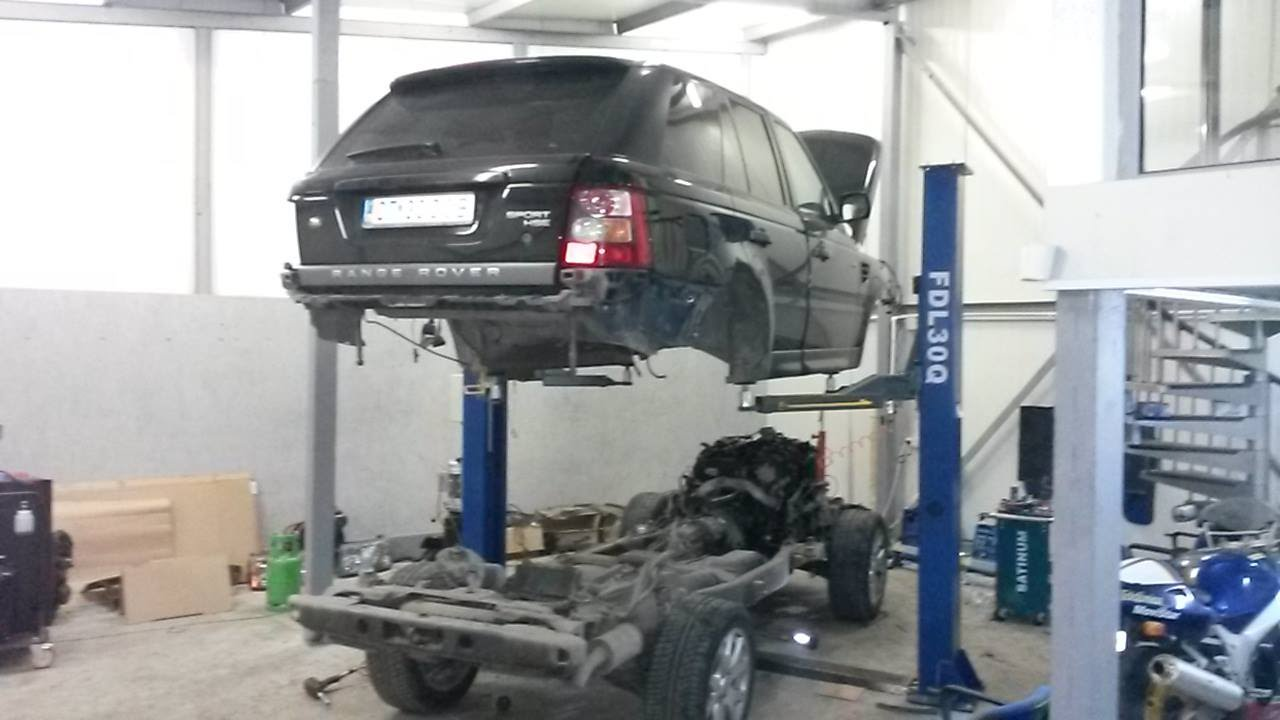 Range Rover Sport How To Remove Body From The Chasis Youtube