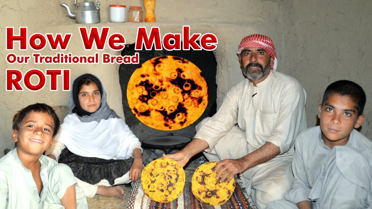 How We Make Our Traditional Bread ROTI | Peer Jan Rind