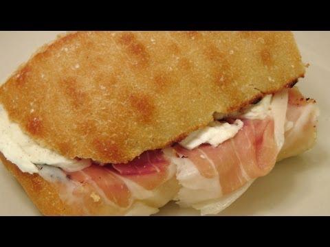 Prosciutto And Mozzarella Sandwich - My Favorite - By Laura Vitale - Laura In The Kitchen Ep 158