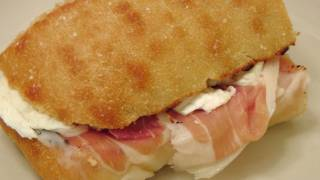 Prosciutto And Mozzarella Sandwich - My Favorite - By Laura Vitale - Laura In The Kitchen Ep 158