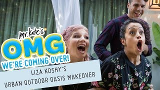 Liza Koshy's Urban Outdoor Oasis Makeover! | OMG We're Coming Over thumbnail