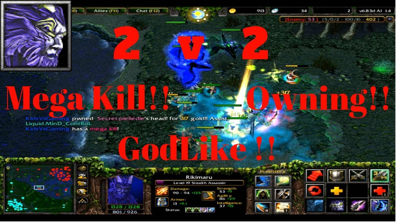 Dota 6 83d Unstoppable Rikimaru Stealth Assassin Beyond Godlike Gameplay Kids Vs Gaming Youtube