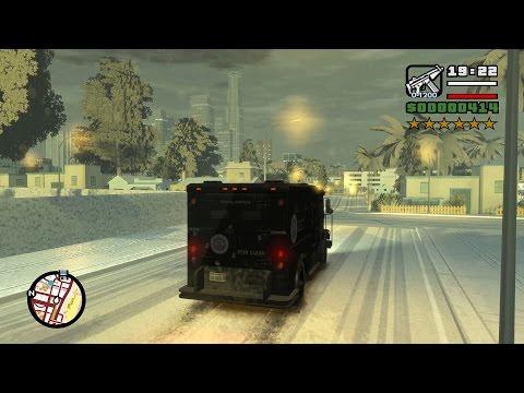 GTA IV San Andreas Beta 2 Snow Edition Gameplay (4K)