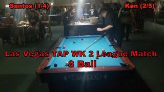 VLOG# 135: Las Vegas TAP 8 Ball Wk 2 Spring League Match 2019