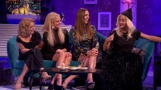 The Spice Girls (Melanie C, Emma, Geri) & Rita Ora are being interv...