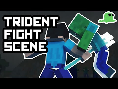 Trident UNLEASHED - Minecraft Fight Animation