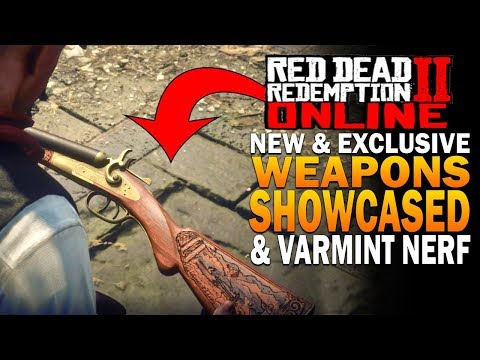 NEW Weapons, Exclusives & Varmint Rifle Nerfs Showcased! Red Dead Redemption 2 Online Update thumbnail