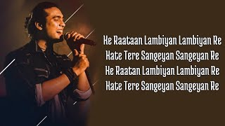 Raataan Lambiyan (Lyrics) Shershaah | Sidharth – Kiara | Tanishk B| Jubin Nautiyal |Asees