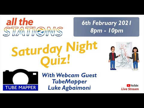 All The Stations Saturday Night Quiz // 6th February 2021