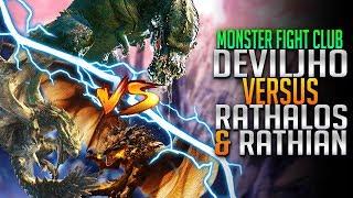 Rathalos & Rathian VS Deviljho Monster Hunter World PC Fight Club