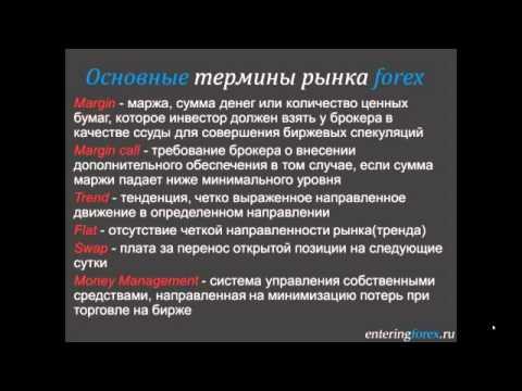 Основные термины рынка форекс