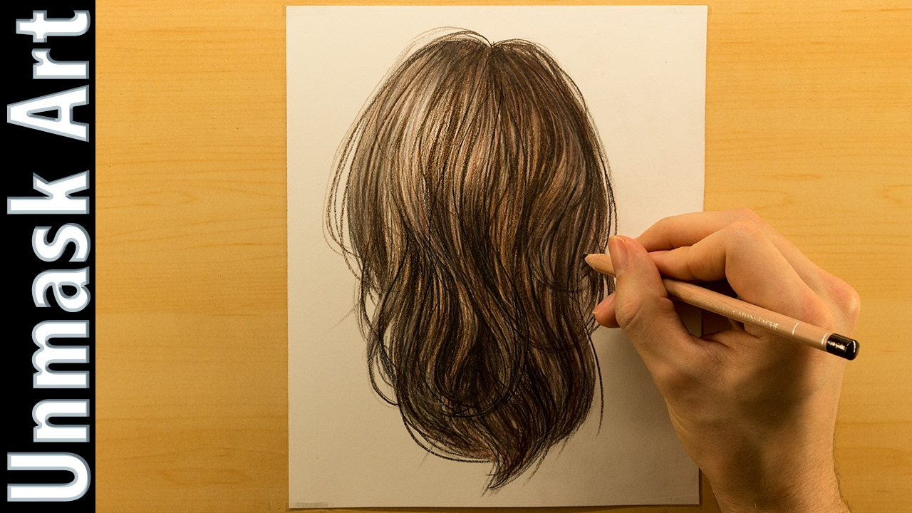 How To Color Brown Hair Colored Pencil Drawing Time Lapse Youtube