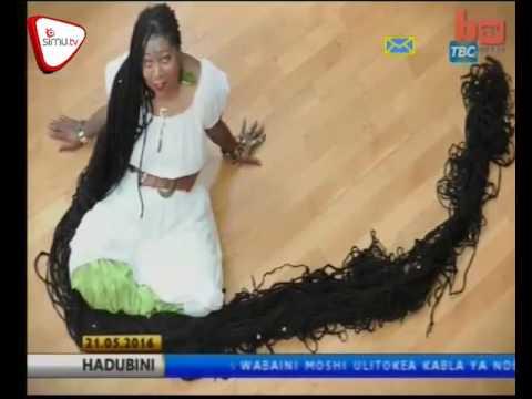 Mwanamke Anayeshikilia Rekodi Ya Nywele Ndefu Duniani