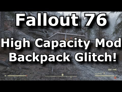 Fallout 76 High Capacity Mod Backpack Glitch! No Plan Use