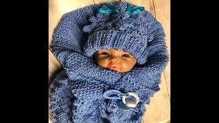 Goldfaden Мастер класс Конверт Кокон для новорожденных Вязание Knitted creative