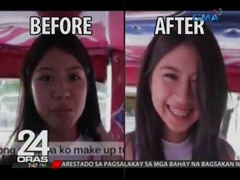 Dalaga sa Iloilo, viral online dahil sa kanyang make-up tutorials sa umaandar na jeep at tricycle