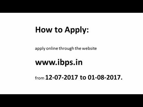 IBPS Recruitment 2017