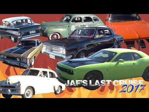 MASSIVE Car Cruise American Australian Muscle Cars Jaf's Last Cruise 2017 - Adelaide South Australia