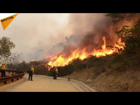 Firemen Resort To Back Burning To Fight California Wildfires