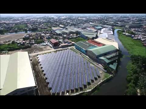 Solar farm in Valenzuela City, Metro Manila