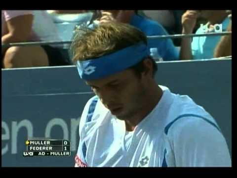 Roger Federer V Gilles Muller U.S. Open HD