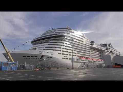 1080p Msc Grandiosa Am Cruise Center Steinwerder Vor Der Taufe In Hamburg 08112019