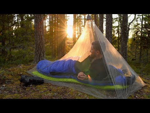 Ultralight Camping With Mosquito Net