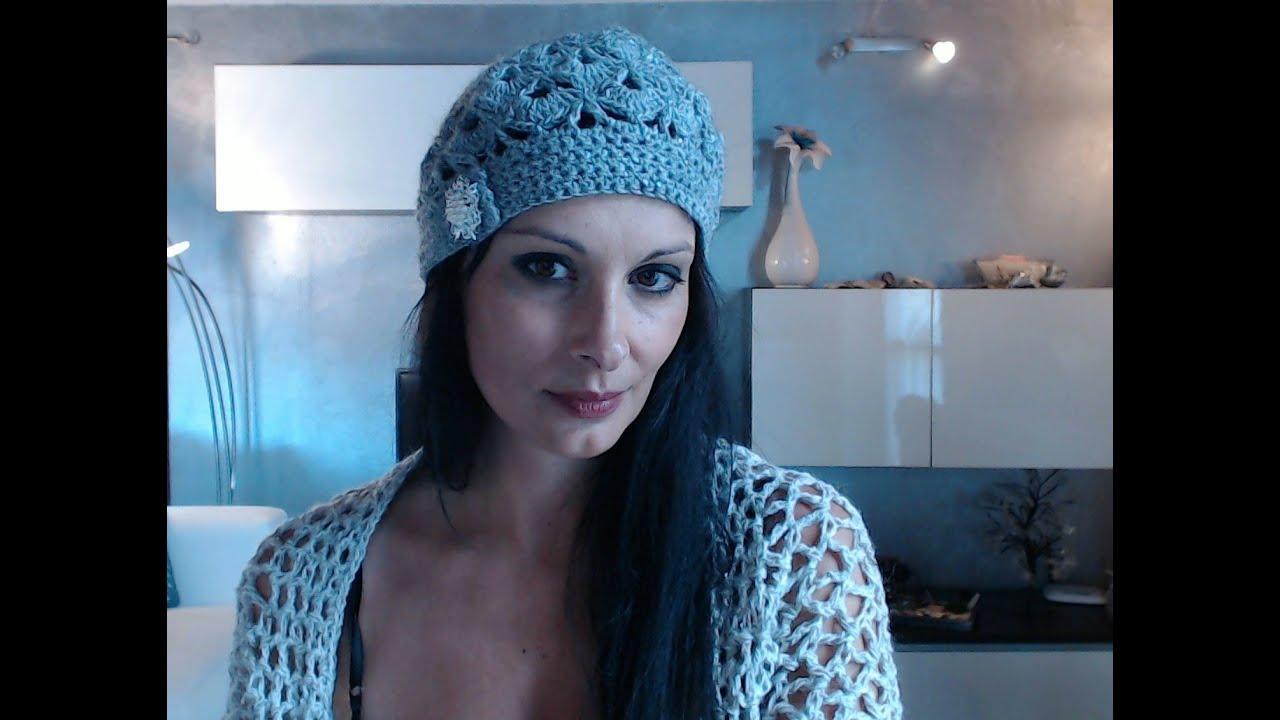 Cappello All'uncinetto Con Youtube Di 2 Donna Bottone pTpw7x