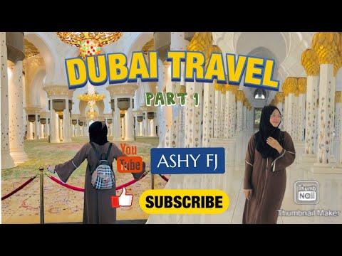 DUBAI TRAVEL at Sheikh Zayed Grand Mosque, Abu Dhabi Part 1 || ASHY FJ