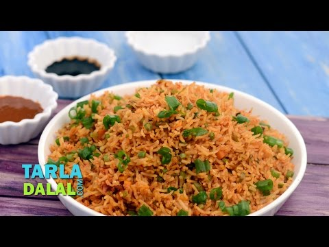 Schezuan Fried Rice by Tarla Dalal