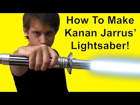 How To Make Kanan Jarrus Lightsaber (Star Wars DIY)