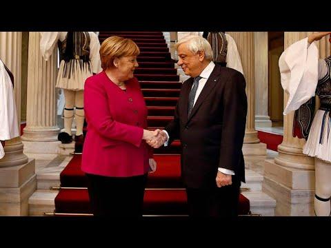 Griechenland pocht bei Merkel-Besuch auf deutsche Reparationen