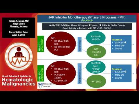 Combination Therapy with JAK2 inhibitors in MPN
