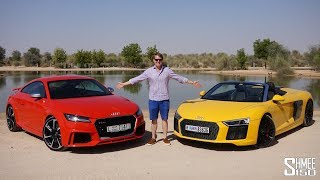 My 2 Dubai Cars: R8 Spyder and TT RS! | GARAGE