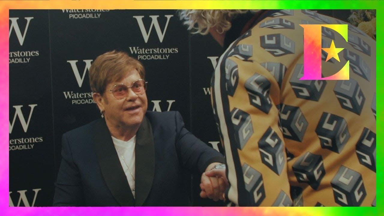 Elton John — Signing 'Me' at Waterstones