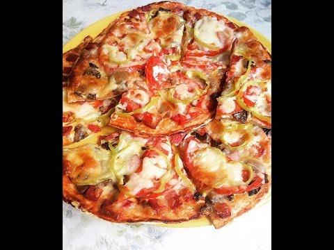 Тесто для пиццы за 10 мин