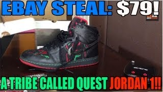 "Ebay Steals! $79 Shipped! ""A Tribe Called Quest"" Air Jordan 1 Strap"