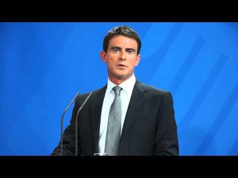 Réveil-FM: Berlin, conférence de presse Manuel Valls et Angela Merkel à la Chancellerie