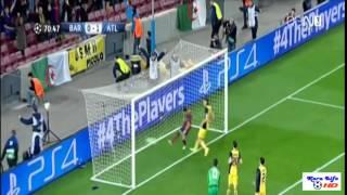 اهداف مباراة برشلونة واتلتيكو مدريد فى دورى ابطال اوروبا 2014 (HD).Barcelona and Atletico Madrid