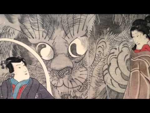Japanese Hiraki Ukiyo-e Cat Prints