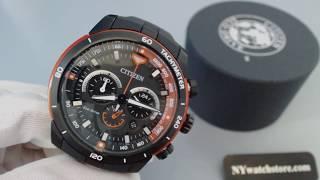 Men's Citizen Eco Drive Ecosphere Chronograph Watch CA4154 -15E