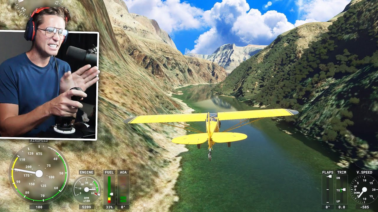 Flying DANGEROUSLY LOW in the Grand Canyon (Microsoft Flight Simulator)