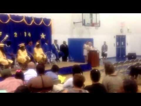 Reginald Kilo' Banks 2014 Graduation-Accotink Academy.  Reginald Banks has options now.