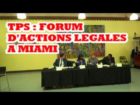 TPS : FORUM D'ACTIONS LEGALES A MIAMI