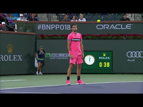 FUNNY: Dimitrov beaten by slowest winner ever! | Indian Wells 2018