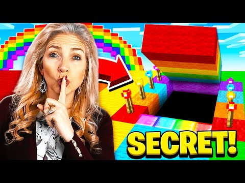 I FOUND MY MOMS SECRET RAINBOW MINECRAFT HOUSE