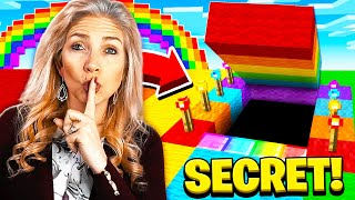 I FOUND MY MOM'S SECRET RAINBOW MINECRAFT HOUSE!
